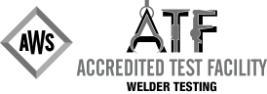 Accredited Test Facility Welder logo in black and gray