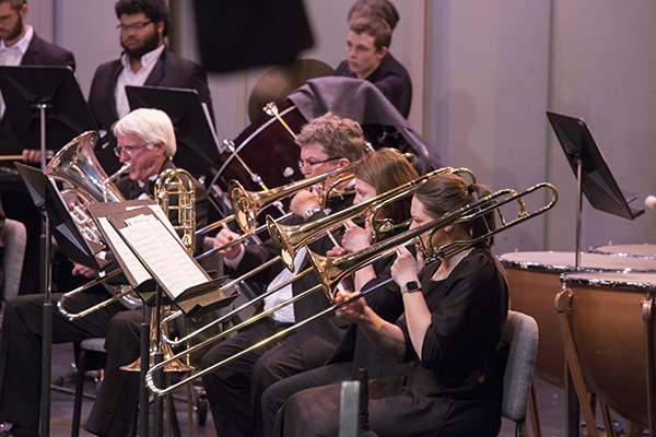 Members of the community band performing at CWC