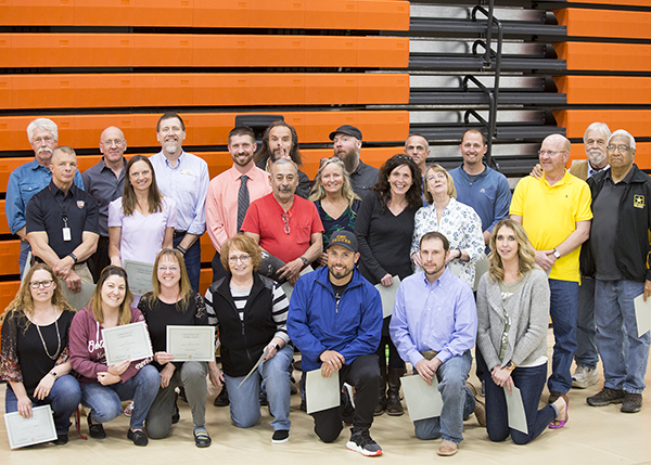 Club advisers were recognized for their year of service.