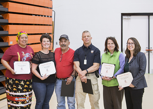 Employees recognized for their 5 years of service.
