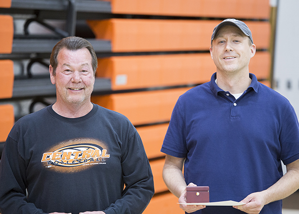 Employees recognized for 20 years of service.