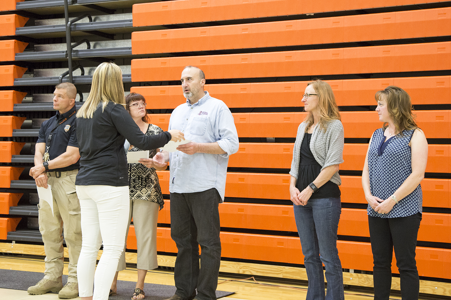 Employees recognized for being club advisers.