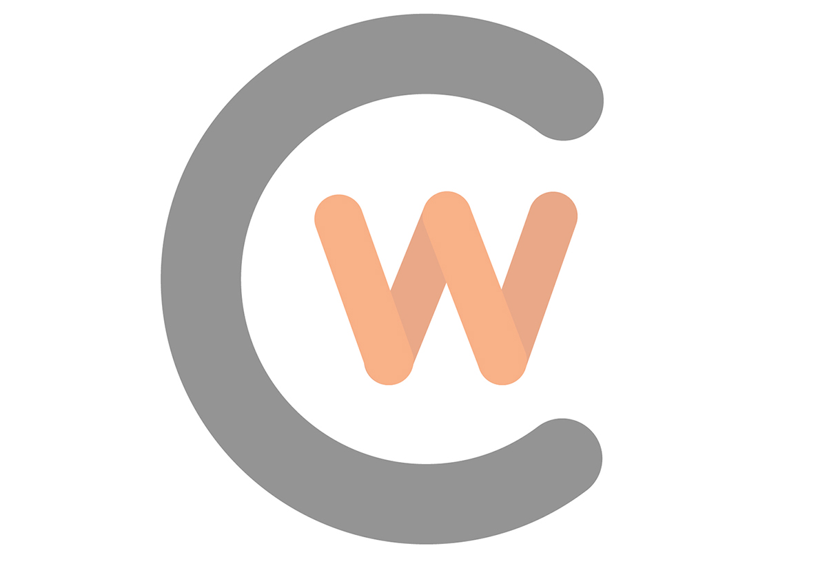 Horizontal faded CWC logo