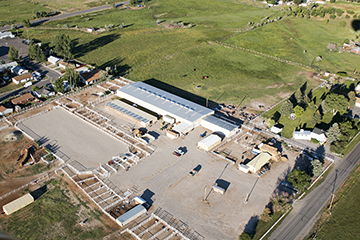 aerial photo of CWC equine center