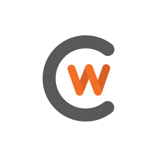 CWC Icon in gray and orange